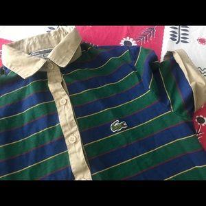 Vintage Lacoste womens polo shirt dress XS S 6